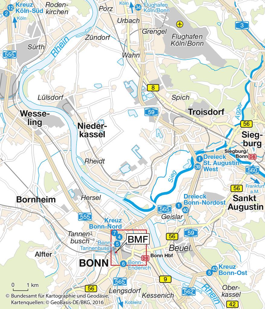Bonn Karte.Bundesfinanzministerium Anfahrtsbeschreibung Bonn