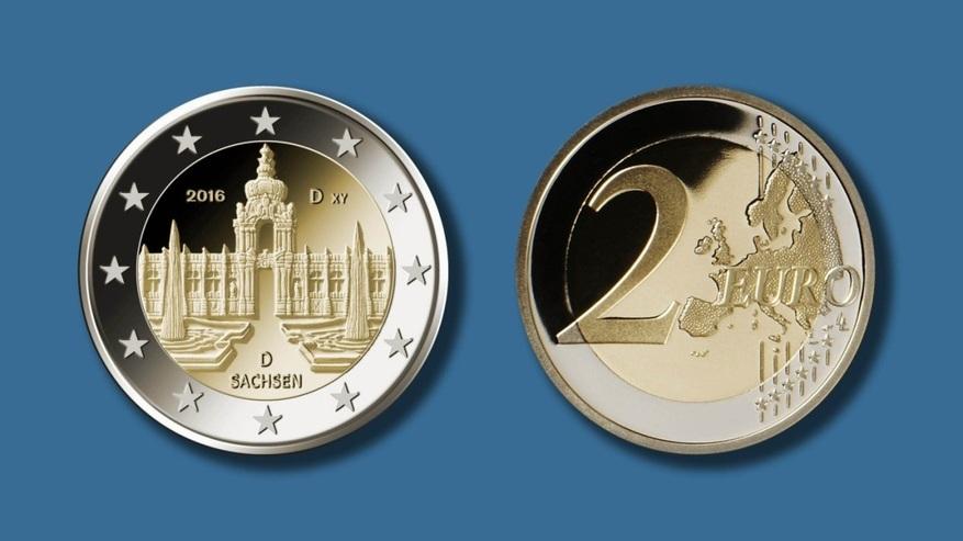 Bundesfinanzministerium Vorstellung Der 2 Euro Münze Sachsen Im
