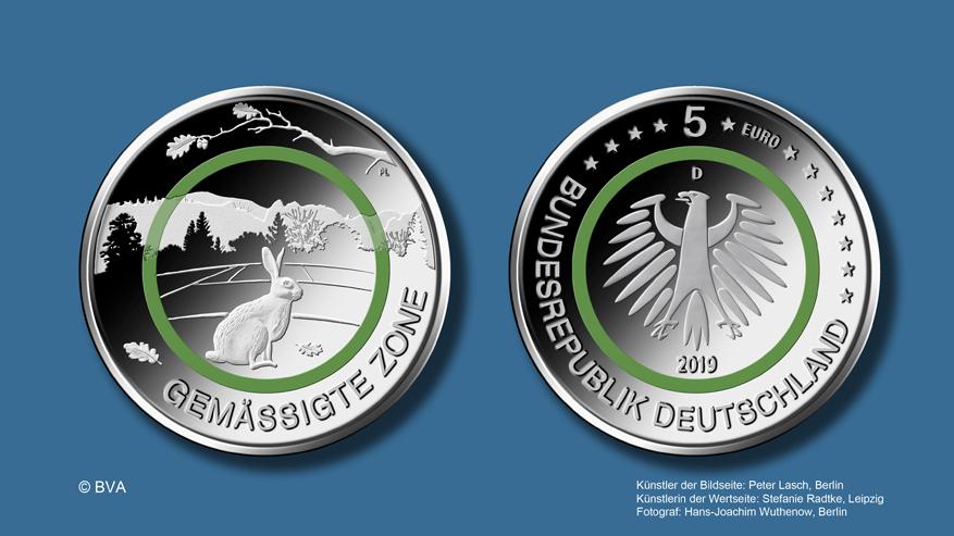 Bundesfinanzministerium 5 Euro Sammlermünze Gemässigte Zone