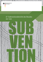 Cover: 27. Subventionsbericht des Bundes