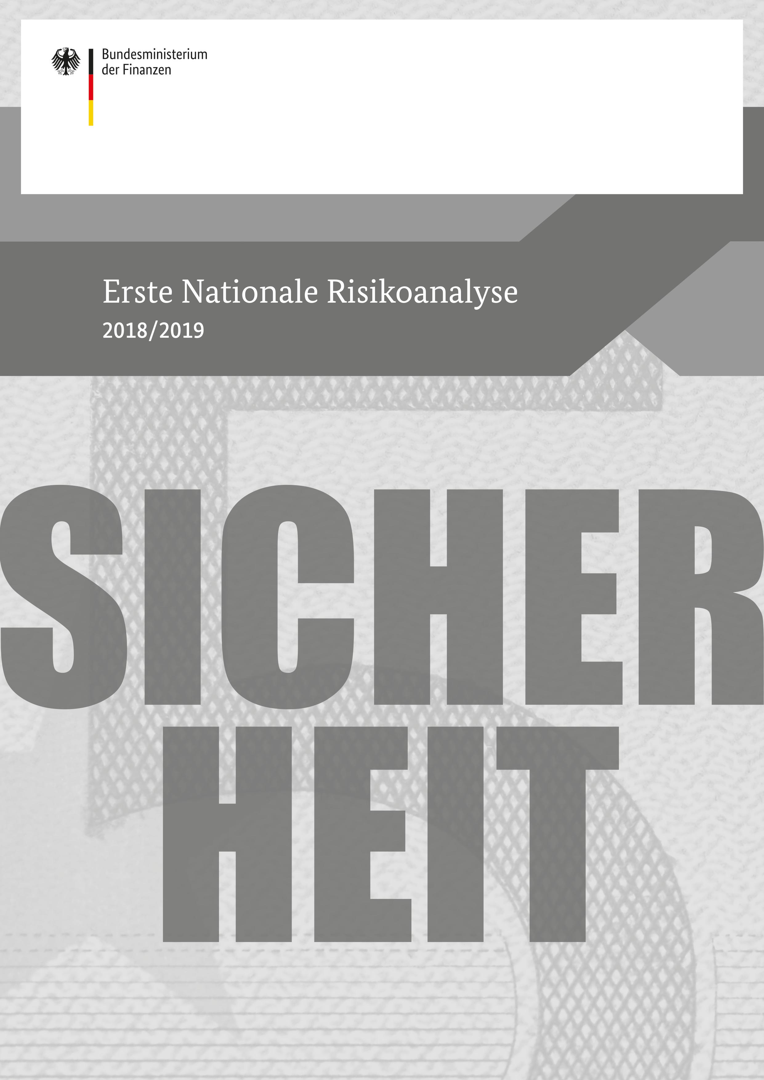 Cover der Broschüre Nationale Risikoanalyse 2018/2019
