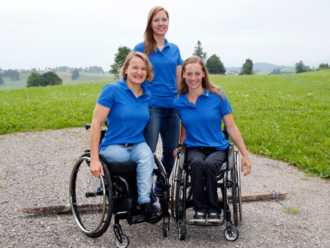 Paralympische Winterspiele 2018 in Pyeongchang: V. l. Anna-Lena Forster, Andrea Rothfuss, Anna Schafflhuber