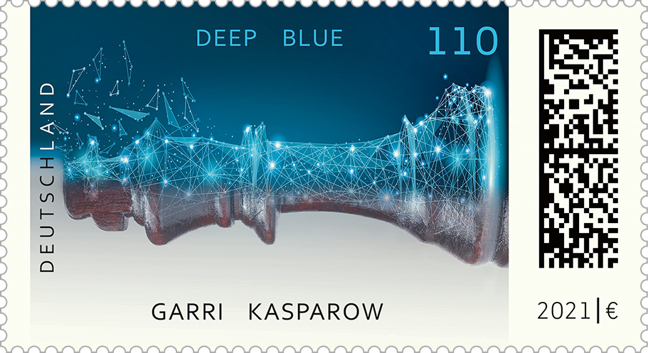 Briefmarke Deep Blue schlägt Kasparow