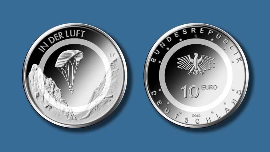 Bundesfinanzministerium 10 Euro Sammlermünze In Der Luft