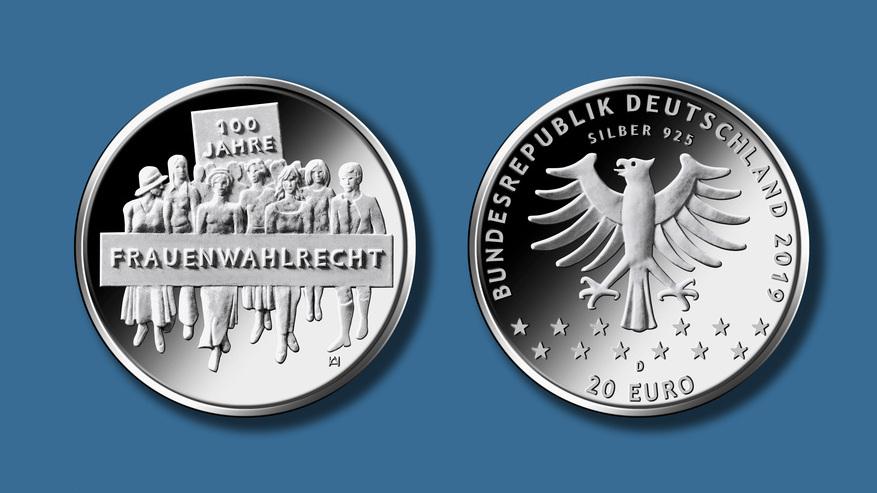 Bundesfinanzministerium 20 Euro Gedenkmünze 100 Jahre