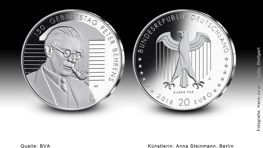 Bundesfinanzministerium 20 Euro Sammlermünze 150 Geburtstag