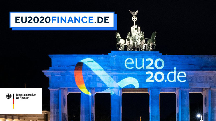 Brandenburg Gate: Logo of Germany's Presidency of the Council of the European Union 2020