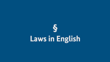 Opens page: Laws in English